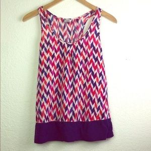 9c3e70fd6ad47a jcpenney Patterned Racerback Tank Top Blouse